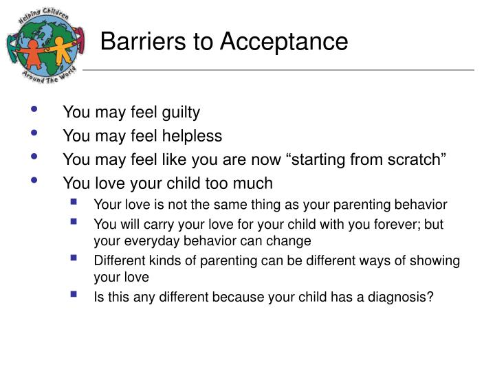 Barriers to Acceptance