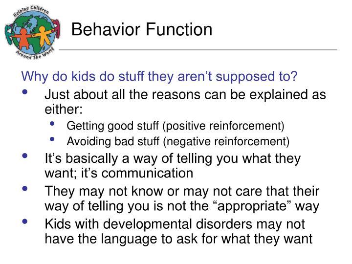 Behavior Function