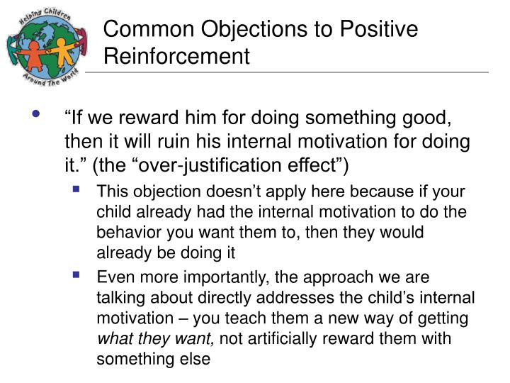 Common Objections to Positive Reinforcement