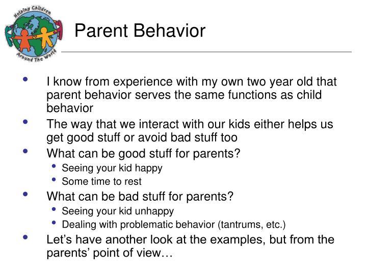 Parent Behavior