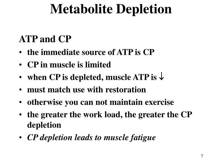 Metabolite Depletion