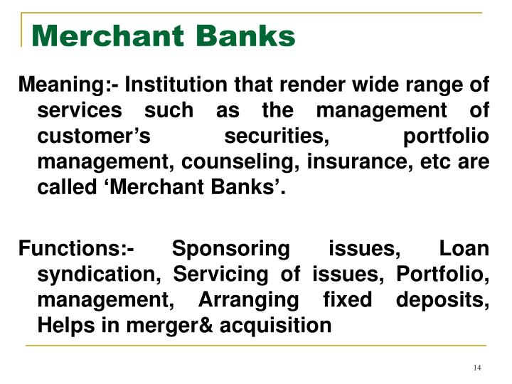 Merchant Banks