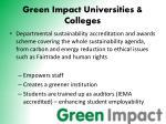 green impact universities colleges