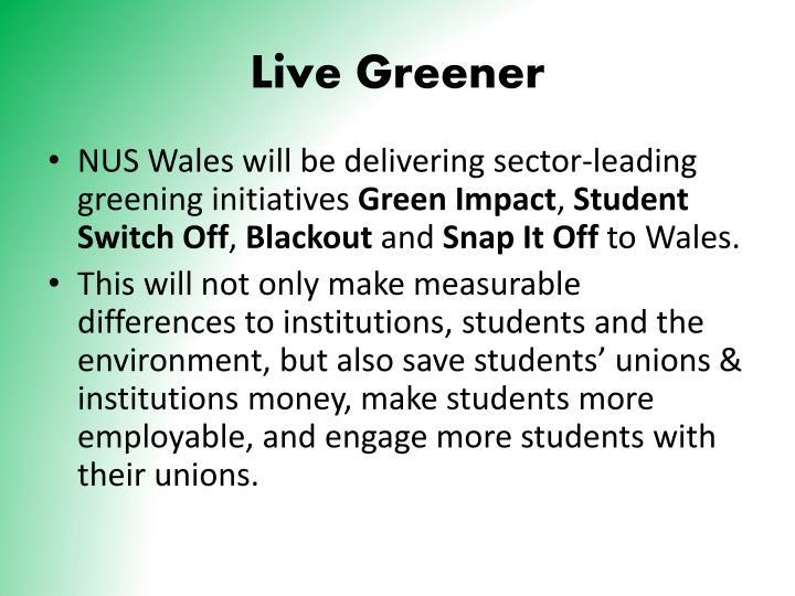 Live Greener
