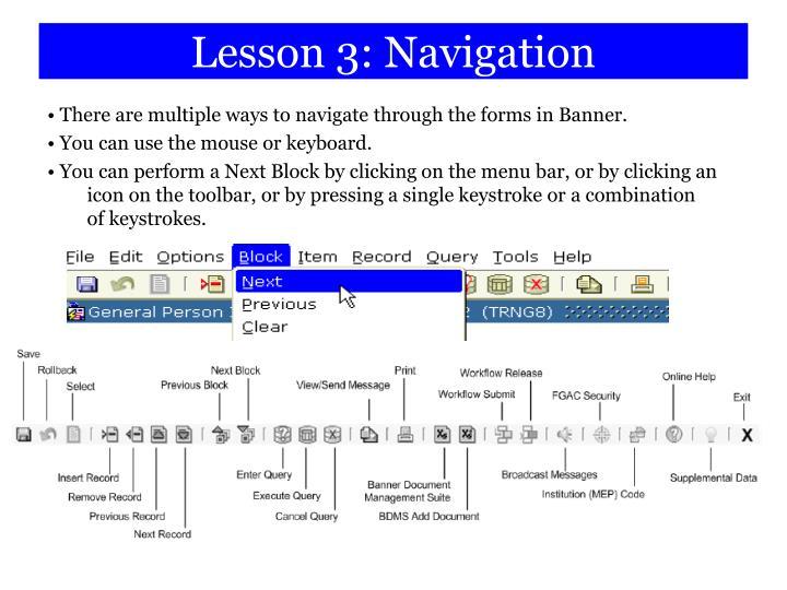 Lesson 3: Navigation