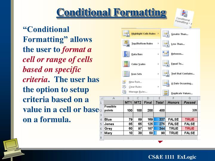 conditional formatting This article describes how to use conditional formatting to shade every other row in an excel spreadsheet.