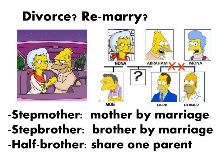 Divorce? Re-marry?