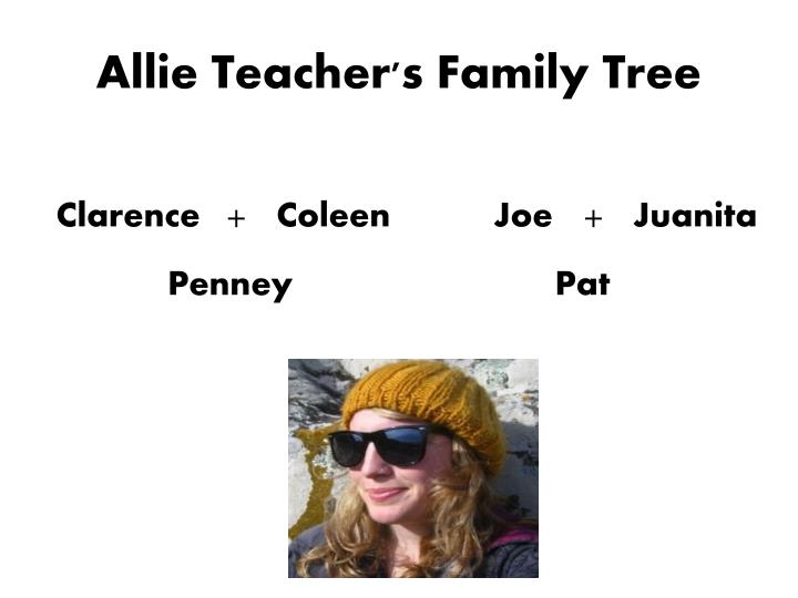 Allie Teacher's Family Tree