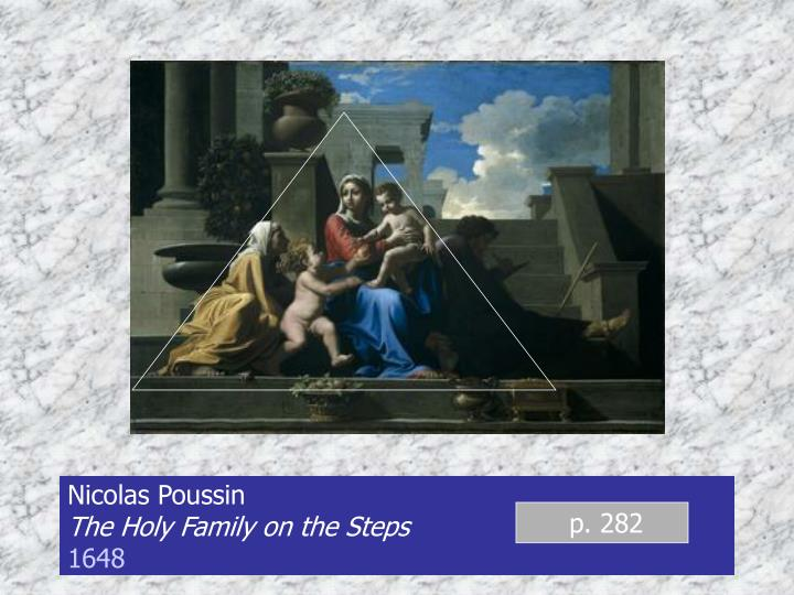 Nicolas poussin the holy family on the steps 1648
