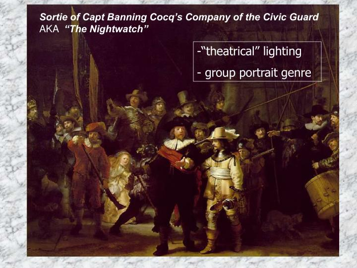 Sortie of Capt Banning Cocq's Company of the Civic Guard