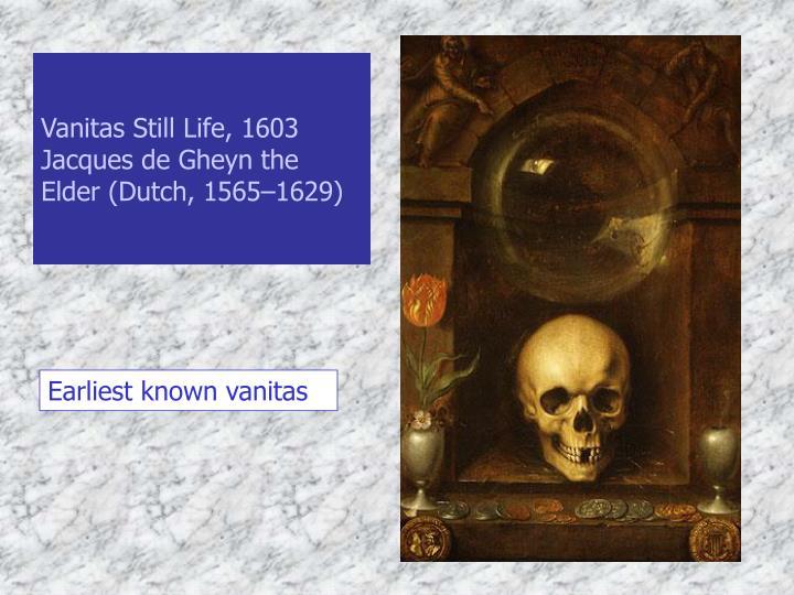 Vanitas Still Life, 1603