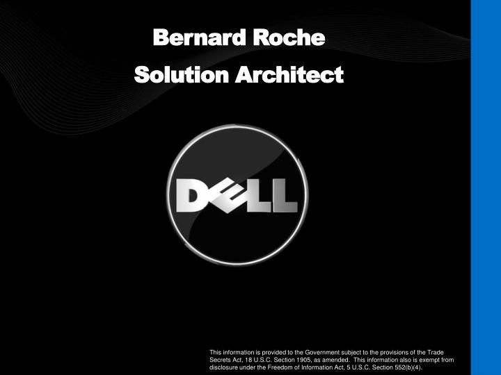 Bernard roche solution architect
