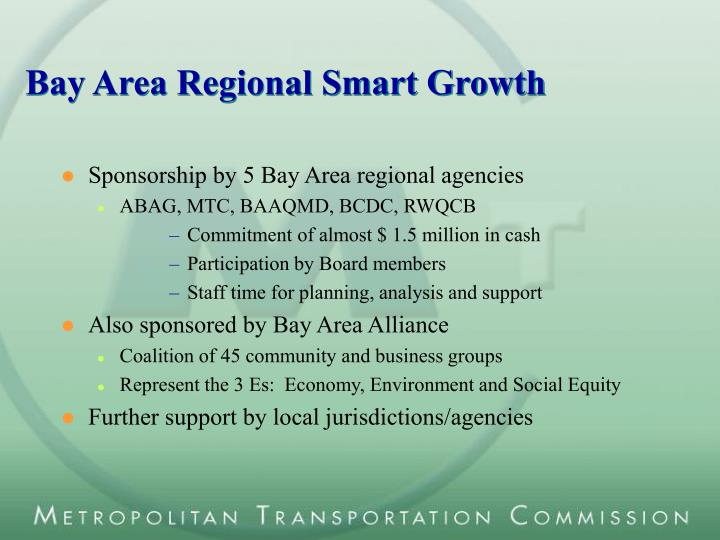 Bay Area Regional Smart Growth