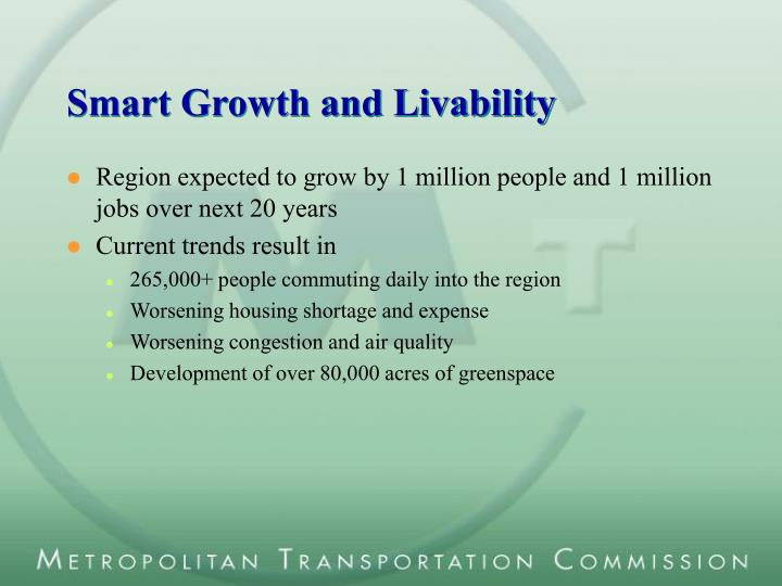 Smart Growth and Livability