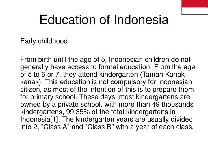 Education of Indonesia