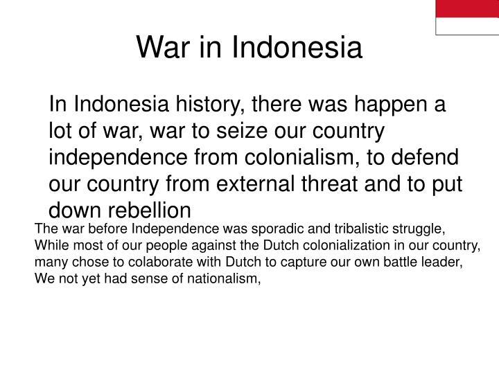War in Indonesia