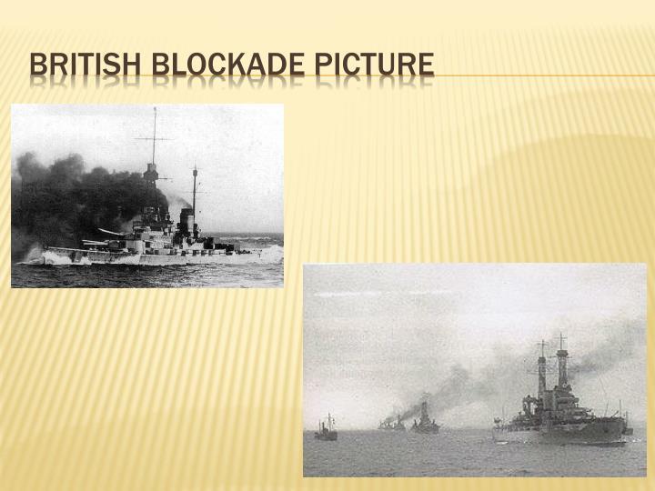 British blockade picture