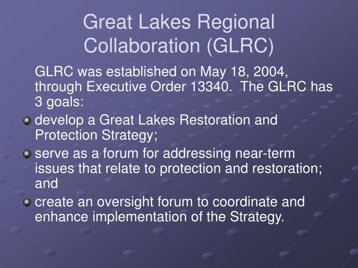 Great Lakes Regional Collaboration (GLRC)