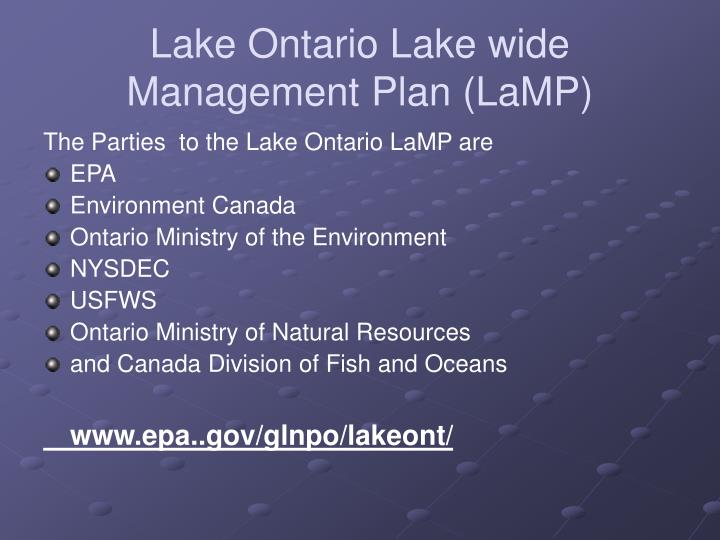 Lake Ontario Lake wide Management Plan (LaMP)
