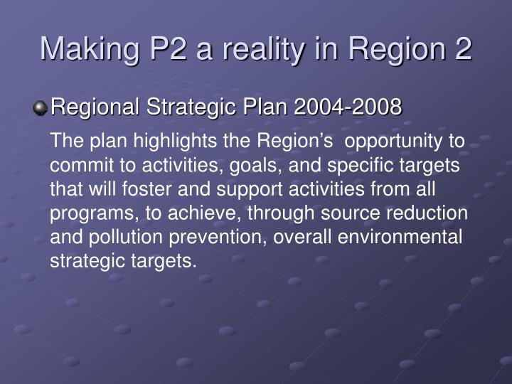 Making p2 a reality in region 2