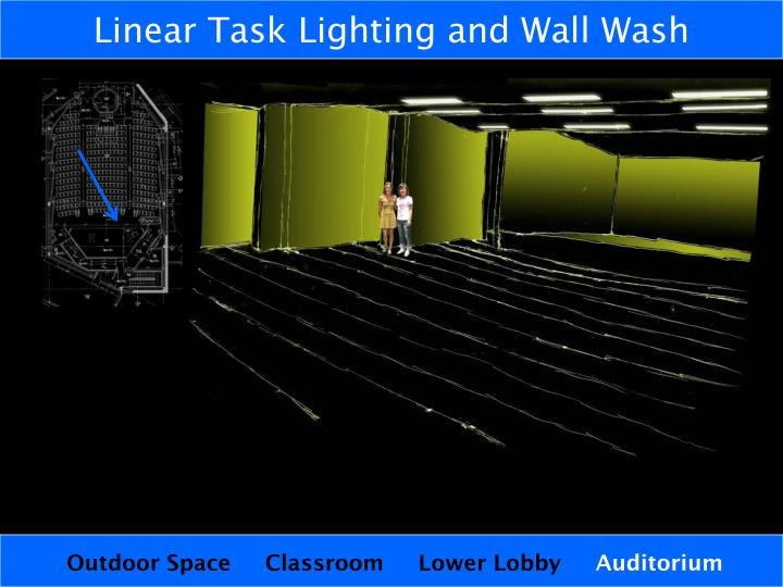 Linear Task Lighting and Wall Wash