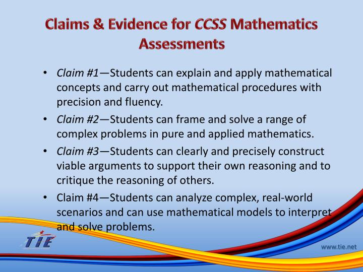Claims & Evidence for