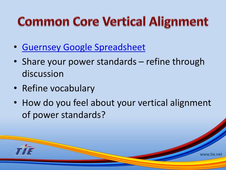 Common Core Vertical Alignment