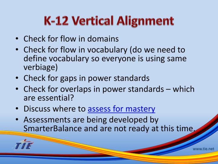 K-12 Vertical Alignment