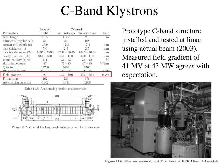 C-Band Klystrons