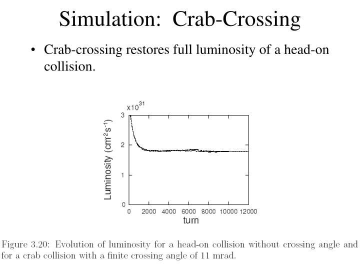 Simulation:  Crab-Crossing