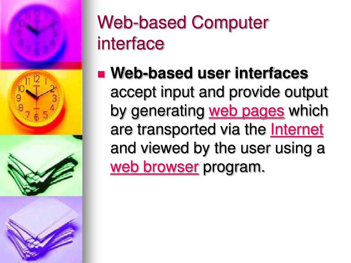 Web-based Computer interface