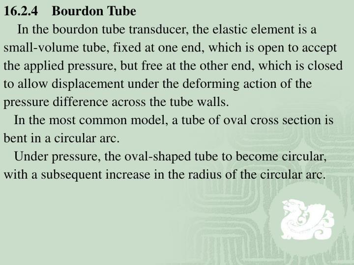 16.2.4    Bourdon Tube