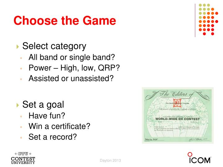 Choose the Game