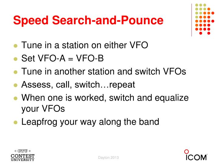 Speed Search-and-Pounce