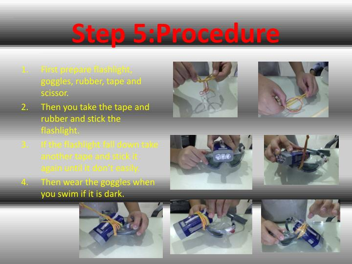 Step 5:Procedure