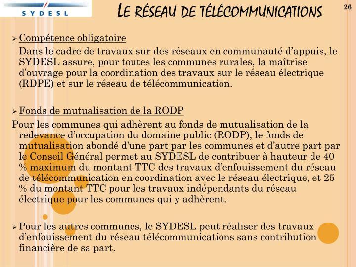 Le réseau de télécommunications
