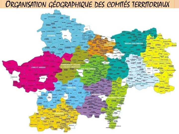 Organisation géographique des comités territoriaux