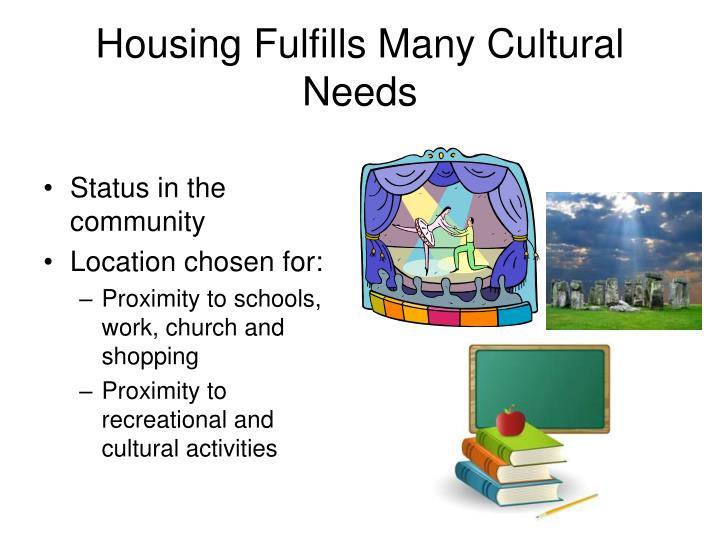 Housing Fulfills Many Cultural Needs