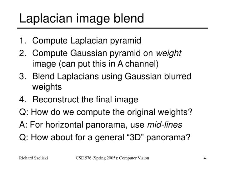Laplacian image blend