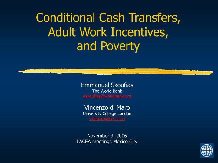 Conditional Cash Transfers,