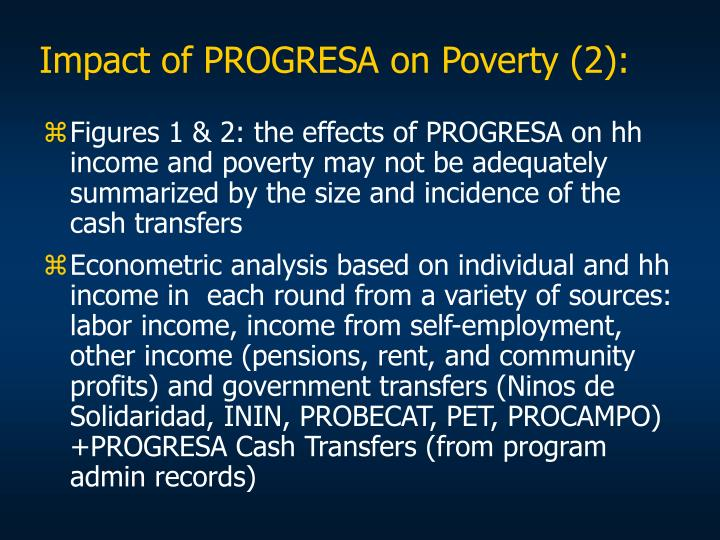 Impact of PROGRESA on Poverty (2):