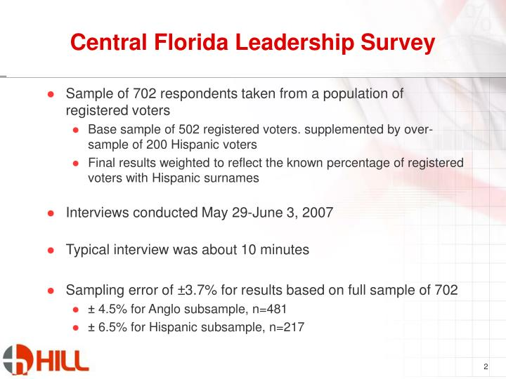 Central florida leadership survey