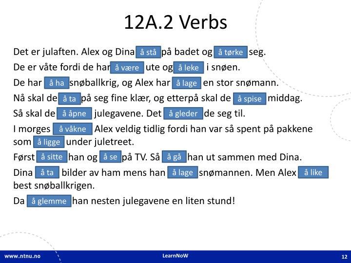 12A.2 Verbs