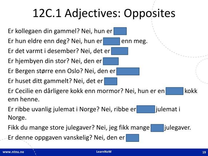 12C.1 Adjectives: Opposites