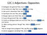 12c 1 adjectives opposites