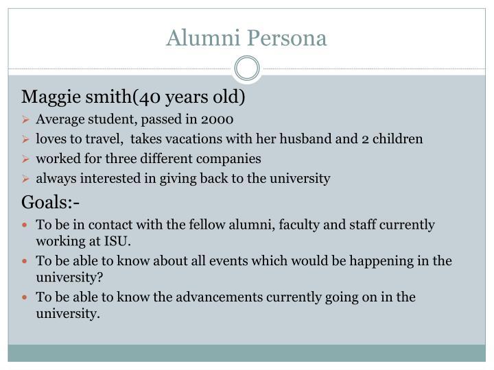 Alumni Persona