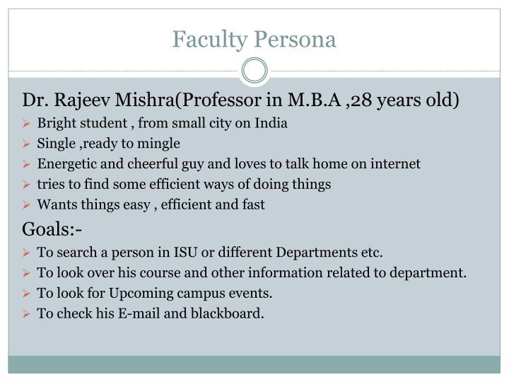 Faculty Persona