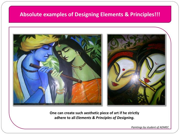 Absolute examples of Designing Elements & Principles!!!