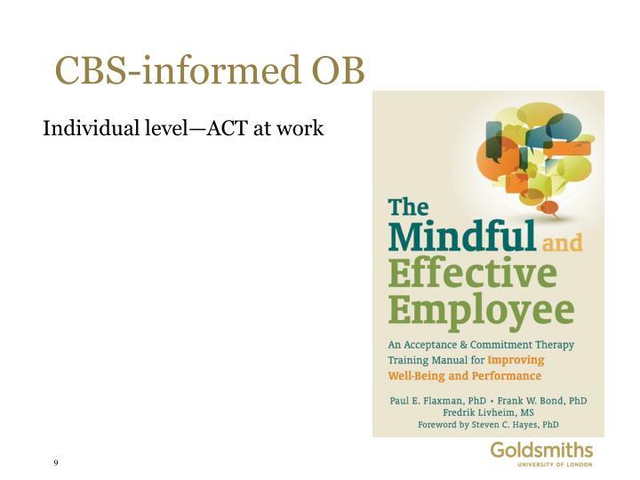 CBS-informed OB