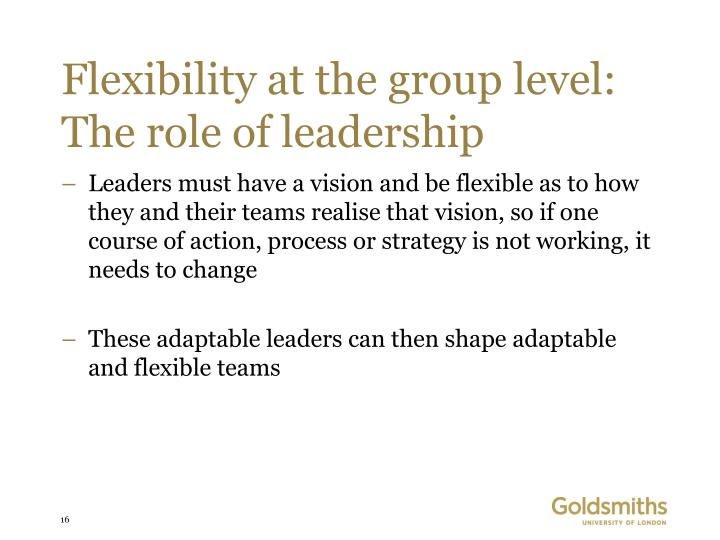 Flexibility at the group level: The role of leadership